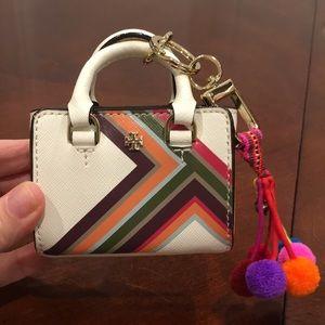 Tory Burch purse charm,keychain